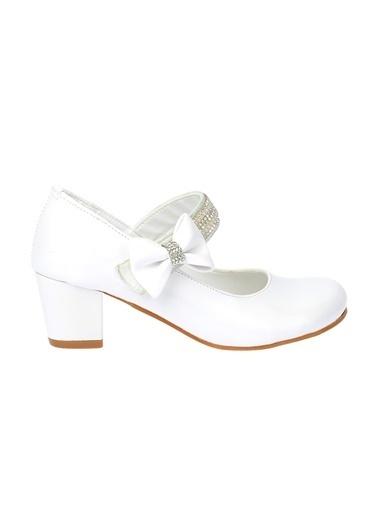 Kiko Kids Kiko 752 Rugan Günlük Kız Çocuk 4 Cm Topuk Babet Ayakkabı Beyaz